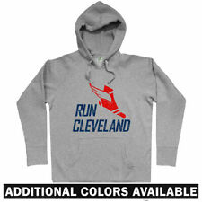 Run Cleveland V3 Hoodie - CLE Ohio OH Running Runner Fitness Athlete - Men S-3XL
