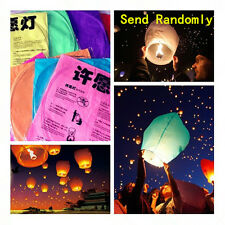 Wishing Lantern Chinese Paper Sky Floating Wedding Birthday Fly Party Lamp 5/10x