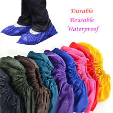 Men Women Recycle Waterproof Rain Shoes Cover Thicken Reusable Flat Overshoes