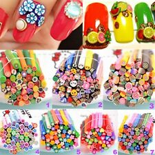 50pcs Nice Mixed Styles Fimo Polymer Clay Cane Nail Stickers Tip Nail Art Newest