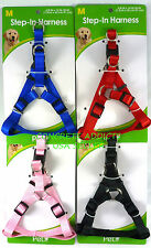 "Pet Inc Step In Dog Harness (Medium) 5/8"" x 14""-20""  Black, Red, or Blue NEW"