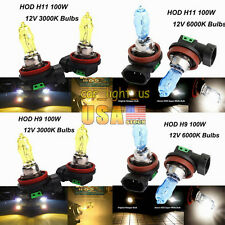100W H11 H13 H4 9005 9006 12V HOD Halogen Headlight Fog Light Lamps 3000K/6000K