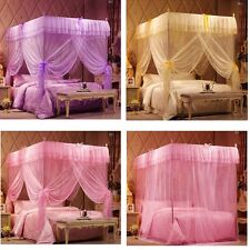 4 Corner Post Bed Canopy Mosquito King Queen Twin Sizes Netting Or Frame/Post