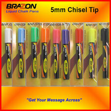 "1 x 5mm Chisel Tip Liquid Chalk Marker Blackboard, Glass Pen ""Any Color"""