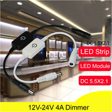 LED Touch Dimmer Switch DC 12-24V 4A For LED Strip Wardrobe Desk Cabinet Light