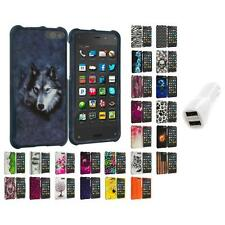 For Amazon Fire Phone Hard Design Skin Case Cover Accessories Car Charger