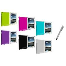 Color Hard Ultra Thin Case+Silver Stylus Pen for iPad 4th 3rd 2nd Gen 4 3 2