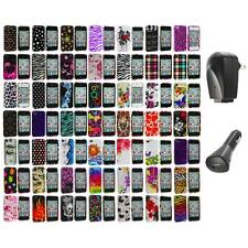 Design Color Hard Snap-On Skin Case Accessory+2X Chargers for iPhone 4 4G 4S
