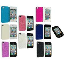 Bling Glitter Sparkly Ultra Thin Hard Back Cover+Sticky Pad for iPhone 4 4G
