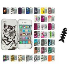 For Apple iPhone 4 4S Hard Design Case Cover Accessory Cable Wrap
