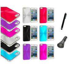 Chrome Aluminum Hard Luxury Case Cover Accessory+Charger+Pen for iPhone 5 5S