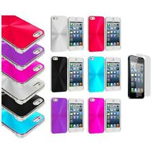 Chrome Aluminum Hard Luxury Case Accessory+3X LCD Protector for iPhone 5 5S