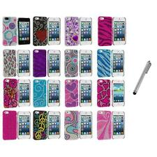 Color Diamond Rhinestone Bling Cute Case Cover+Metal Pen for iPhone 5 5S