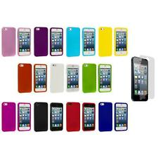 Hard Snap-On Rubberized Case Cover Accessory+Screen Protector for iPhone 5 5S