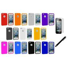 Silicone Circles Color Rubber Skin Case Cover+LCD Film+Stylus for iPhone 5 5S