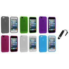 TPU Mesh Perforated Color Rubber Skin Case Cover+Stylus Plug for iPhone 5 5S 5th