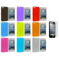 0.3mm Frost Super Ultra Thin Hard Case Cover+3X LCD Protector for iPhone 5 5S