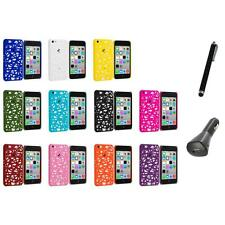 For Apple iPhone 5C Color Birds Nest Slim Hard Snap-On Case Cover+Charger+Pen