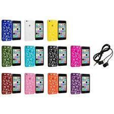 For Apple iPhone 5C Color Birds Nest Slim Hard Snap-On Case Cover+Headphones