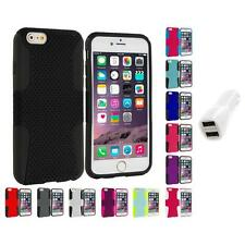 For Apple iPhone 6 (4.7) Hybrid Mesh Case Cover Accessory Car Charger