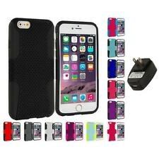 For Apple iPhone 6 (4.7) Hybrid Mesh Case Cover Accessory Wall Charger