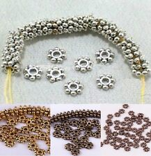 1000pcs Tibetan Antique Silver/Golden/Bronze Daisy Spacer Beads 4mm 6mm
