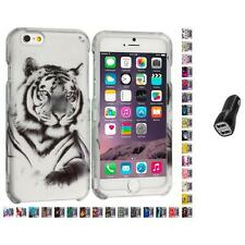 For Apple iPhone 6 PLUS 5.5 Design Hard Snap-On Case Cover 2.1A Charger