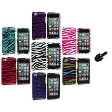 Zebra Design Hard Case Cover Accessory+Mini Stylus for iPod Touch 4th Gen 4G 4