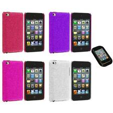 Color Bling Glitter Hard Cover Case+Sticky Pad for iPod Touch 4th Gen 4G