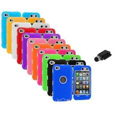 Deluxe Hybrid Case Cover+Protector+Dock Stylus for iPod Touch 4th Gen 4G 4