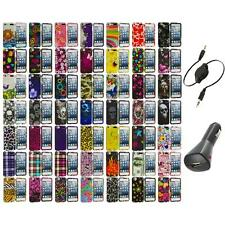 Design Hard Snap-On Rubberized Case Cover+Aux+Charger for iPod Touch 5th Gen 5G