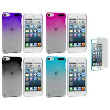 Color Clear Raindrop Case Cover+3X LCD Protector for iPod Touch 5th Gen 5G 5