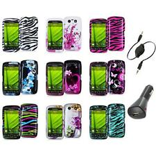 Design Hard Case Cover Accessory+Aux+Charger for Blackberry Torch 9850 9860