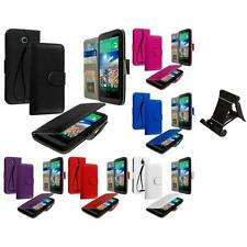 For HTC Desire 510 Wallet Flip Pouch Case Cover Accessory Stand Mount