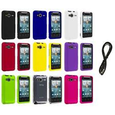 Color Hard Snap-On Case Cover+6FT Aux for HTC EVO Shift 4G Phone Accessory