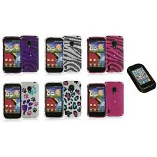 For LG Lucid 2 VS870 Bling Diamond Design Hard Case Cover+Sticky Pad