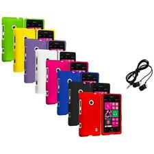 For Nokia Lumia 521 Snap-On Hard Rubberized Matte Case Cover Headphones