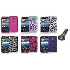 Color Bling Diamond Rhinestone Case Cover+Car Charger for Pantech Discover P9090