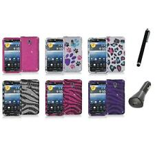 Color Bling Diamond Rhinestone Case Cover+Charger+Pen for Pantech Discover P9090