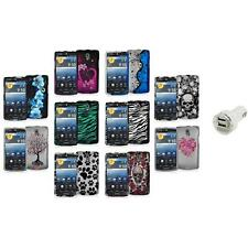 Color Hard Design Snap-On Case Cover Accessory+Dual Charger for Pantech Discover