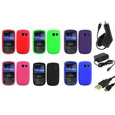 Color Silicone Rubber Gel Case Cover+3X Chargers for Pantech Link II 2 P5000