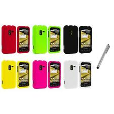 Color Hard Snap-On Rubberized Case Cover+Metal Pen for Samsung Conquer 4G D600
