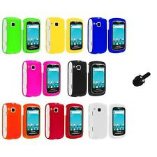 Color Hard Snap-On Skin Case Cover+Mini Stylus for Samsung Doubletime I857 Phone
