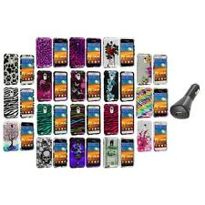 Design Hard Case Cover+Car Charger for Samsung Epic Touch 4G Sprint Galaxy S2