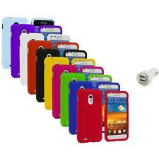 Color Hard Case Cover+Dual Charger for Samsung Sprint Galaxy S II S2 Epic Touch