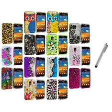 Design Hard Rubberized Case Cover+Metal Pen for Samsung Sprint Galaxy S2 S II