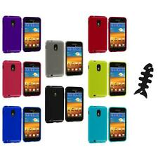 TPU Plain Case Cover+Cable Wrap for Samsung Sprint Galaxy S2 S II Epic Touch 4G