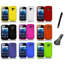 Color Hard Snap-On Case Skin Cover+Charger+Pen for Samsung Exhilarate i577
