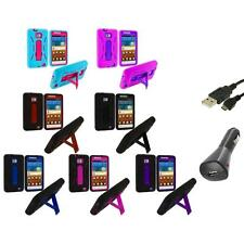 Hybrid Case Cover Stand+Charger+USB for Samsung Attain Galaxy S2 II i9100