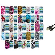 TPU Design Rubber Soft Skin Case Cover+USB Cable for Samsung Galaxy S3 S III